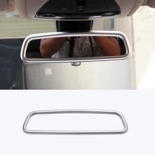 for jaguar f pace 2016 2017 2018 f pace x761 abs matt silver electronic parking handbrake e brake button knob trim For Jaguar F-Pace 2016 2017 2018 F pace X761 Car-styling ABS Matte Chrome Interior Rearview Mirror Frame Cover Trim Accessories