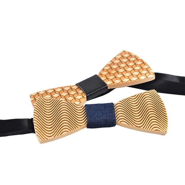 2017 new originality design wooden bow tie men's wedding decoration leisure wooden bow tie floral bow tie