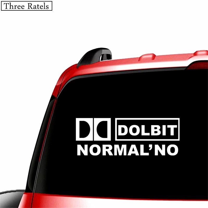 Image 2 - Three Ratels TZ 022 9.08*25cm 1 5 pieces DOLBIT NORMALNO car sticker car stickers-in Car Stickers from Automobiles & Motorcycles