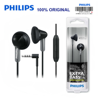 Original Philips SHE3015 Support Microphone Wire Control Wired In ear for Huawei P10 with 3.5mm Plug Smart phone Official Test