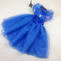 2015 New Sandy Princess Cinderella Girls Dress Cosplay Costume Fancy Dress For Children S Free Shipping