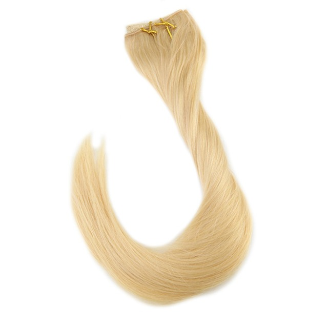 Full Shine Double Weft Flip Hair Mircale Wire Hair Extension