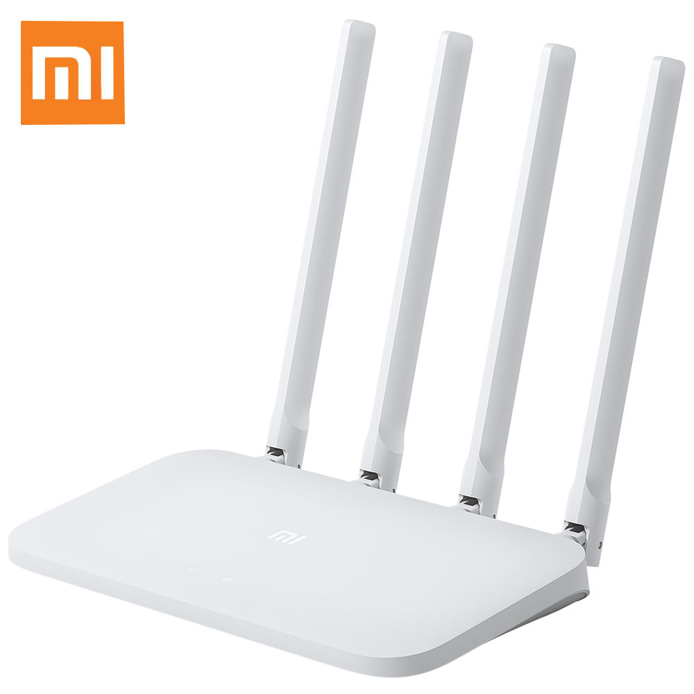 Original Xiaomi Mi 4C Wireless Router 300Mbps 4 Antennas 2.4GHz Wifi Routers 10/100Mbps AC Internet Support Smart Remote Control|Wireless Routers| |  - title=