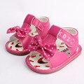 Sandálias do bebê Marca Menina Menino Moda Bowknot Chassure Quente Dos Desenhos Animados Da Criança Infantil Calçados Para Meninas Recém-nascidas Meninos 2016 Venda Quente