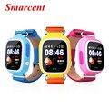 Q90 touch screen kid smart watch gps localização pk q80/q60/q50 GPS criança Assistir SOS Wi-fi Relógio de Pulso Silicone Strap IOS & Andriod
