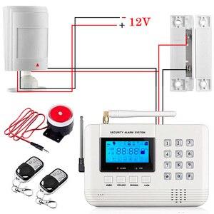 Image 3 - Fuers New 99 Wireless 2 Wired Defense Zones Security GSM Burglar Alarm System built in Speaker Auto Dial Intercom Security Alarm