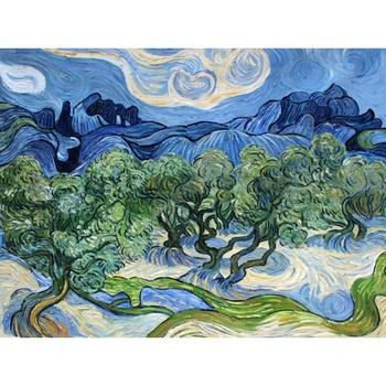 Handmade oil painting reproduction Vincent Van Gogh High quality Olive Trees with the Alpilles  Living room decor