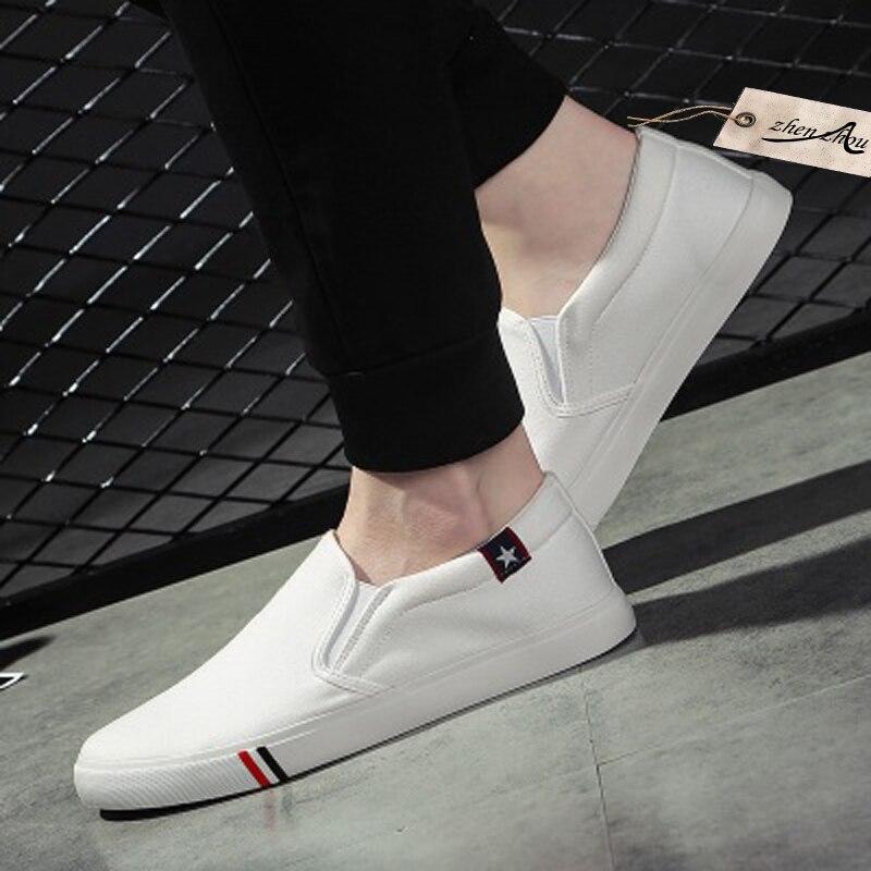 Perezoso Los white Un Hombres Coreana De Pedal Lona Carga 2018 Bajo Blue black Zapatos La Tela top Libre Verano Versión Black Ocasionales White BA6xqSZ