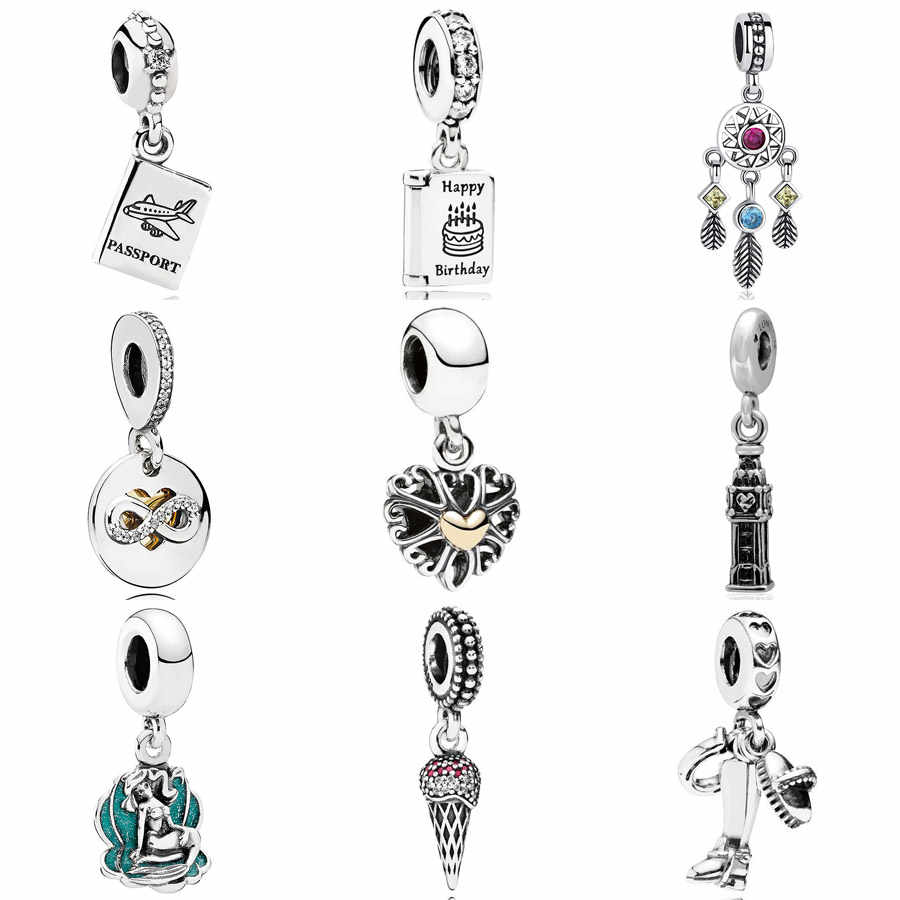Detail Feedback Questions About Birthday Wishes Passport Dreamcatcher Heart Of Infinity Big Ben Pendant Charm Fit Pandora Bracelet 925 Sterling Silver Beads