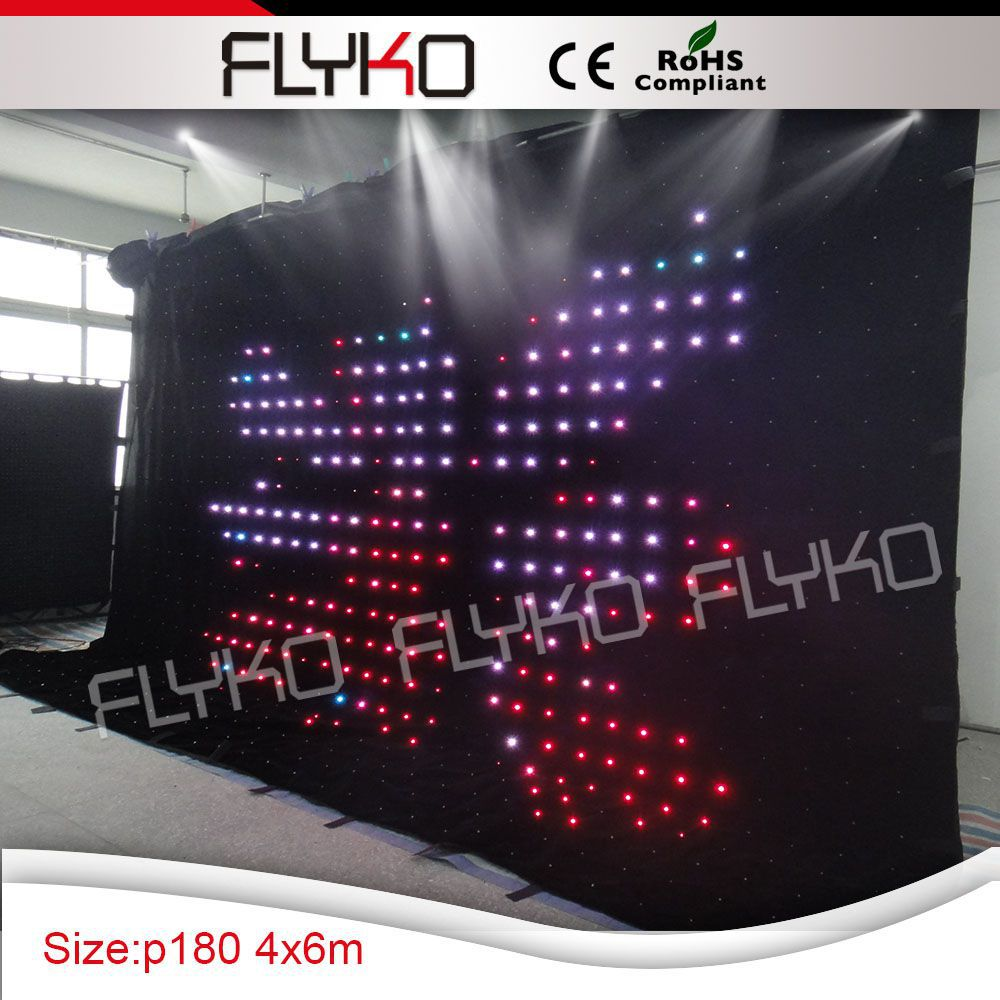 Pitch 18 Led Video Curtain Off Line Mode Lights For