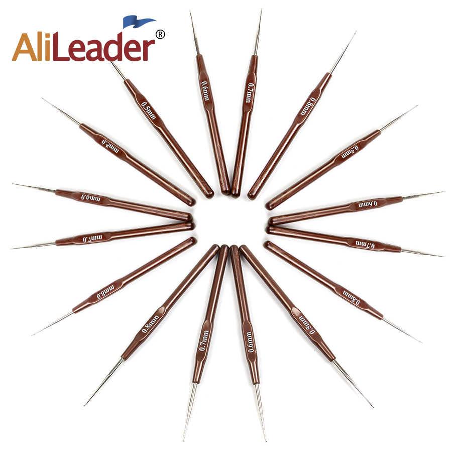 4 шт. крючком Крючки для игл 0,5 мм 0,6 мм 0,7 мм 0,8 мм микро-Крючок для плетения дредов инструменты для Волос Гладкий мягкий захват