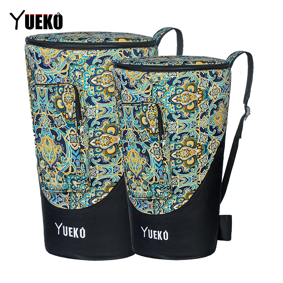 YUEKO African Drum Bag Sturdy Shoulder Straps High Quality And Durable Djembe Bag Triple-layer Construction 12/14 Inch