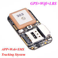 Topin 365GPS ZX303 ZX302 ZX612 GPS tracker PCB board world smallest GSM GPRS sim card GPS tracking chip with MIC and SOS button