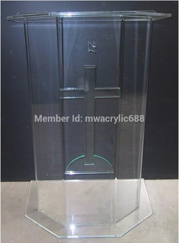 Free Shipping Beautiful Price Reasonable Clean Acrylic Podium Pulpit Furniture Pulpit Lectern Acrylic Podium