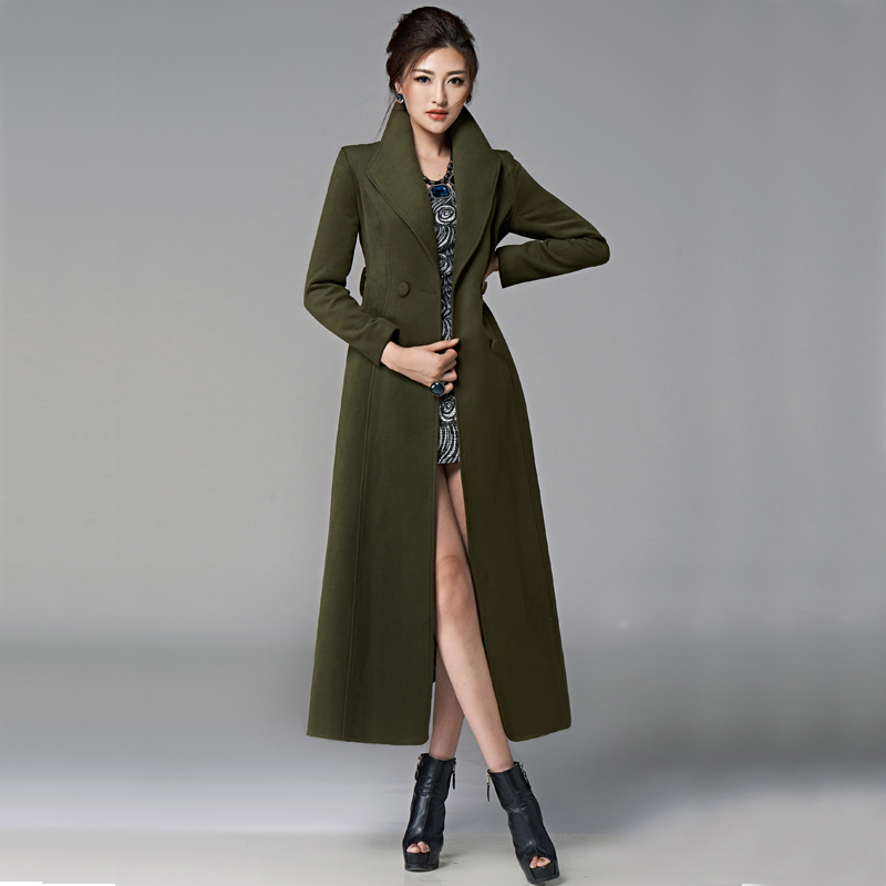 Extra Long Wool Coat Fashion Women S Coat 2017