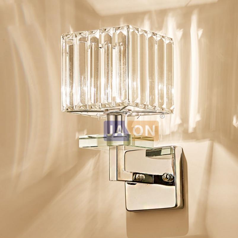 Lights & Lighting Led E14 Nordic Iron Glass Crystal Gold White Led Lamp Led Light Wall Lamp Wall Light Wall Sconce For Bedroom