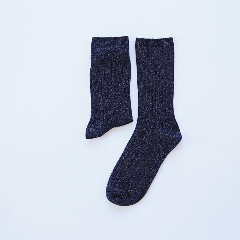 Fashion Gold Silver Winter Cotton Warm Socks Thick Cool Colored Short Women Socks Solid Hipster Purple Harajuku Socks Female in Socks from Underwear Sleepwears