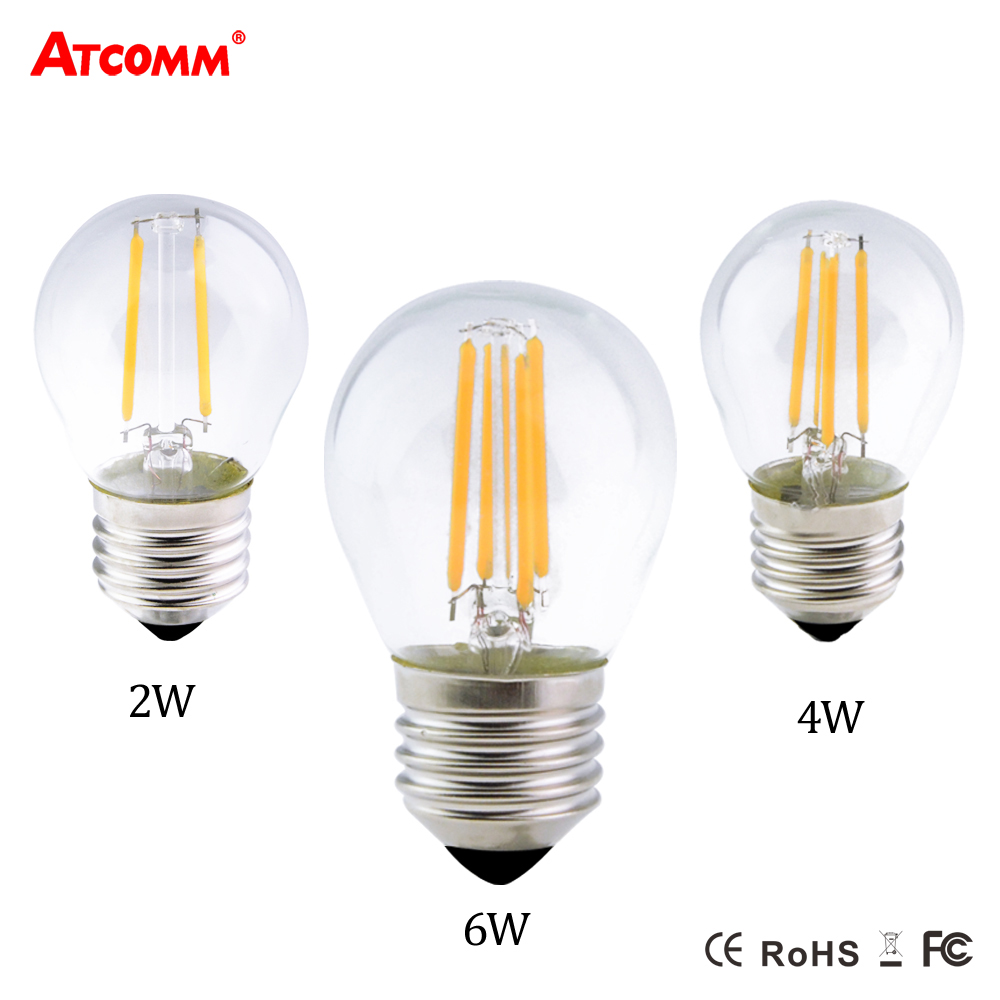 e27 led diode bulb g45 filament lampada 2w 4w 6w 110v 220v dimmable ampoule led e27 vintage. Black Bedroom Furniture Sets. Home Design Ideas