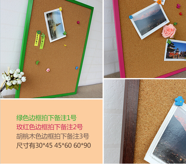 XINDI Wooden Framed Push Pin Message Board 60*45cm Factory Direct Sell Home Decorative Bulletin Cork board Free accessories