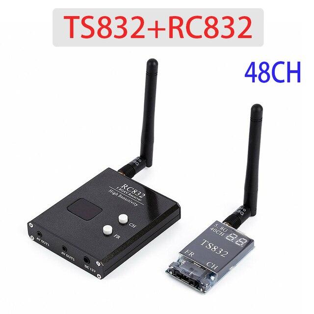 Ts832 rc832 boscam 5.8g 48ch 600 mw fpv transmissor receptor combinado av vtx rx conjunto 7.4 16 v para fpv multicopter