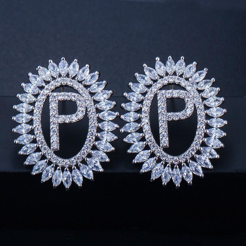 Letter Stud Earrings 3