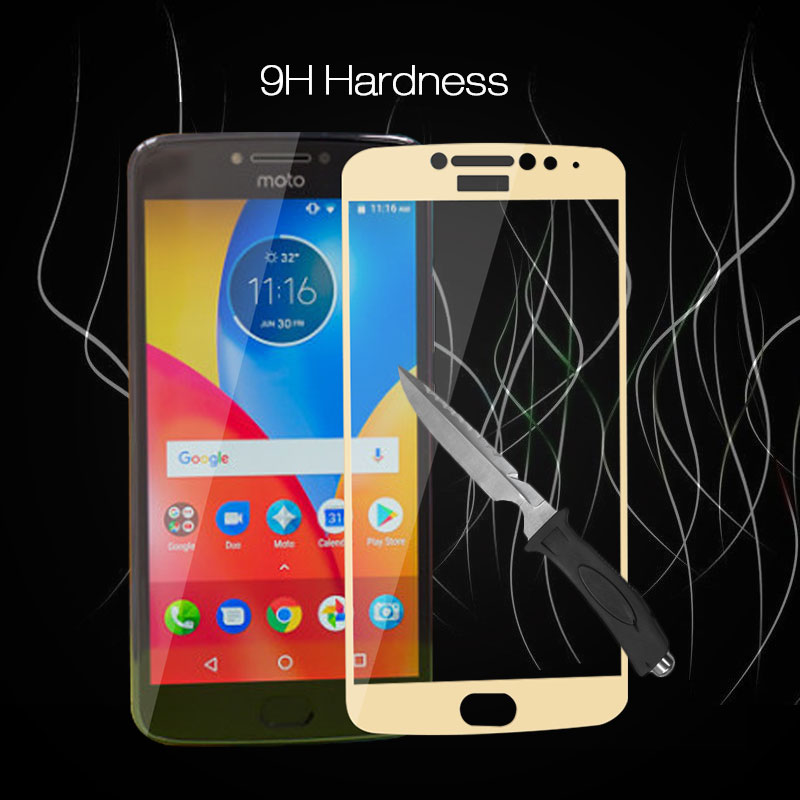 Full Screen Protective Tempered Glass For Moto E4 Plus Protector Film For Moto E4 Plus 5.5'' Screen Protector Front Glass image