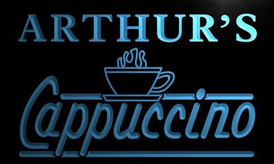 x0048-tm Arthurs Cappuccino Coffee Custom Personalized Name Neon Sign Wholesale Dropshipping On/Off Switch 7 Colors DHL