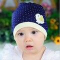Spring Autumn Knitted Newborn Crochet Baby Hat Girl Boy Cap Children Beanie Dot Chicken Infant Cotton toddlers warm winter