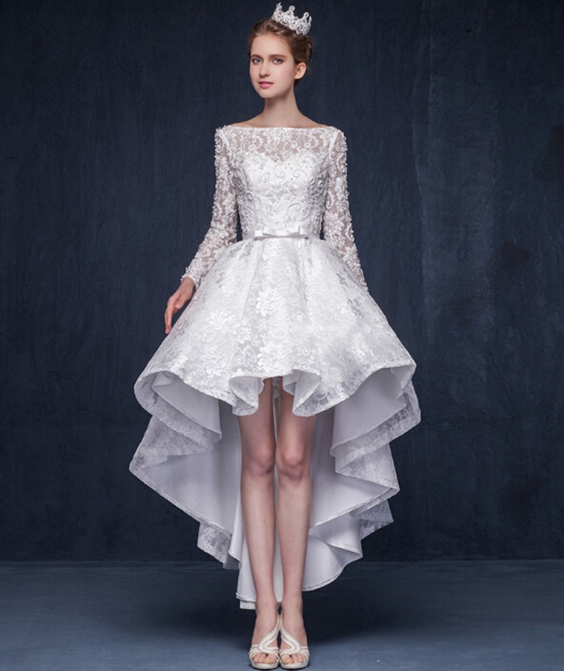 White Designer Evening Dresses with Sleeves  fashion dresses