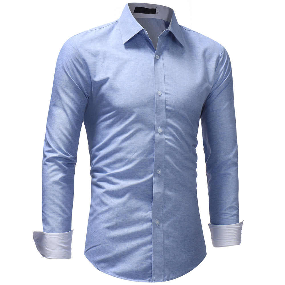044357af2ea New 2018 Autumn Cotton Dress Shirts High Quality Mens Casual Shirt ...