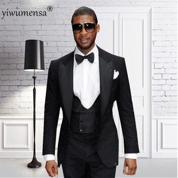 yiwumensa Latest Coat Pant Designs 2018 Men Suit Terno Slim Fit Two pieces wedding suits for mens black 3 pieces suits man