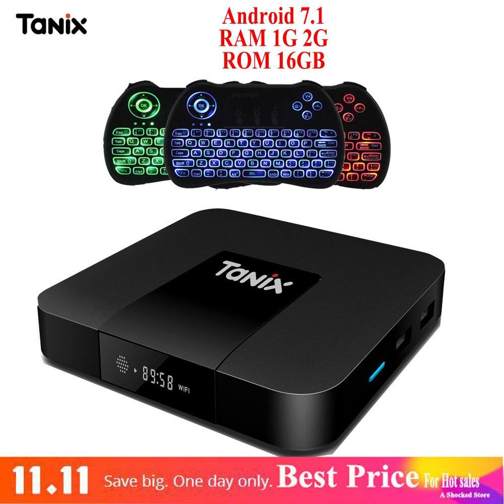 Tanix TX3 Mini TV Box Android 7 1 Box 1GB 2GB RAM 16GB ROM