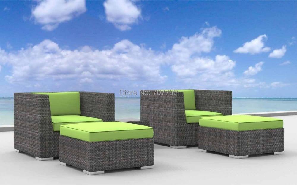 2017 Curacao 5pc Modern Resin Wicker Outdoor Furniture Modular Sofa Sets