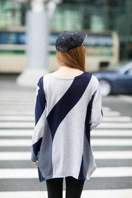 Autumn Plus Size Long Sleeve Irregular hem Loose T Shirts 2018 Autumn Lagenlook Crew Neck  Shirts Casual Loose Tops T-Shirts Tee 4