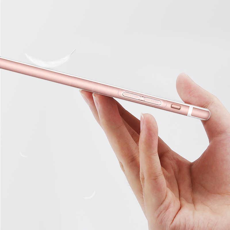 Siêu Mỏng Mỏng Trong Suốt TPU Ốp Lưng Điện Thoại iPhone 7 8 Plus Capa Rõ Ràng Trường Hợp Cho iPhone Xs 11 max Pro X XR 6S 6 5S