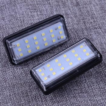 DWCX 81271-6033 2 uds. Luz de matrícula LED blanca No libre 18 SMD J100 para Toyota Land Cruiser Prado Lexus GX LX470