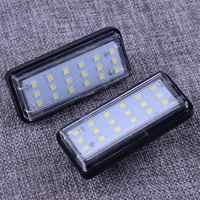 DWCX 81271-6033 2pcs No Free White 18-SMD LED License Plate Light Fit for Toyota J100 Land Cruiser Prado Lexus GX LX470
