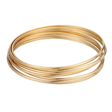 5/7PCs Blank Bright Bangles Simple Fashion Stainless Steel Cuff Bangle