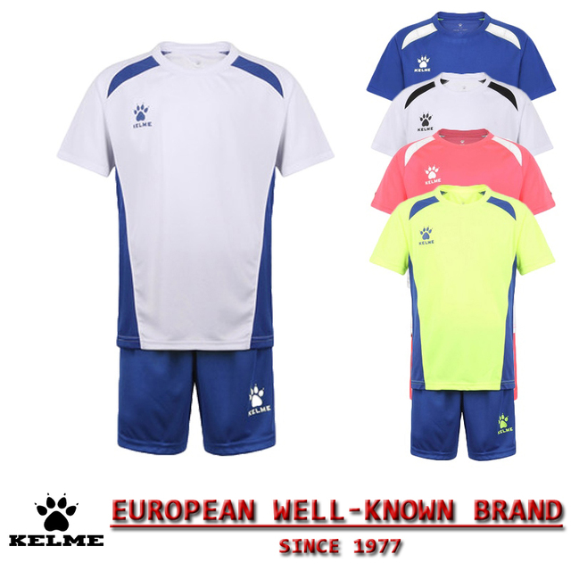 KELME Official Authentic Spain High Quality Youth Kids Soccer Tracksuit Football Training Suits Jerseys Uniforms Breathable 63