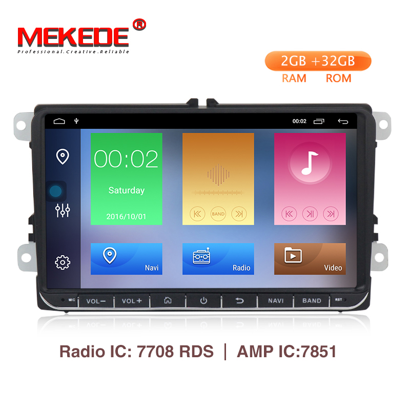 9 Android 9.1 2+32G Car GPS Navigation for VW Volkswagen SKODA GOLF 5 Golf 6 POLO PASSAT B5 B6 JETTA TIGUAN dvd player BT RDS