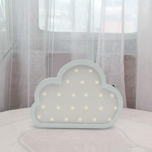 Image 5 - جميل يونيكورن البومة سحابة شجرة LED ثلاثية الأبعاد ضوء الليل ضوء لطيف الاطفال هدية لعبة طفل الأطفال غرفة نوم الديكور مصباح إضاءة داخلية