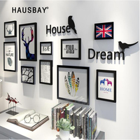 10pcs/Set Home Decoration Photo Wall Corridor Photo Frame Wall Wedding Love Photo Frame Wall Picture Frames For Paintings 05368