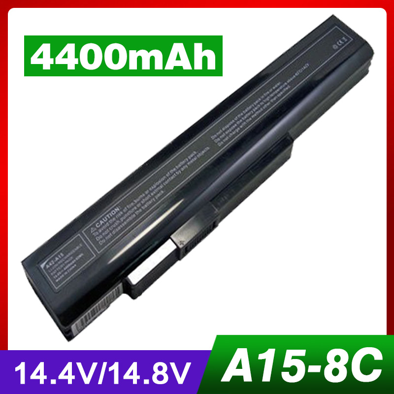 Laptop Battery for MSI A32-A15 A41-A15 A42-A15 A42-H36 A6400 CX640MX CR640 CR640X CR640MX FOR MEDION Akoya P7621 E6222 E6221 14 4v 3000mah us55 4s3000 s1l5 40046152 4icr19 66 original battery for medion akoya md98736 s6212t md99270 s6615t s621xt s6211t