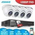 ANNKE FHD 3MP HDMI 8CH CCTV System DVR Kit 4 stücke 1080P Heavy-duty IP66 Wetter Sicherheit Kamera home Video Überwachung Kit
