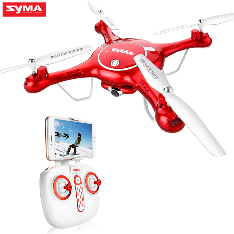Syma X5UW RC Drone Quadrocopter With HD Camera Wifi FPV Real-time Drones SmartPhone Control Helicopter Dron With 4G Memory Card jjrc h12c rc helicopter 2 4g 4ch rc quadcopter drone dron with hd camera vs x5sw x6sw mjx x101 x400 x800 x600 quadrocopter toys