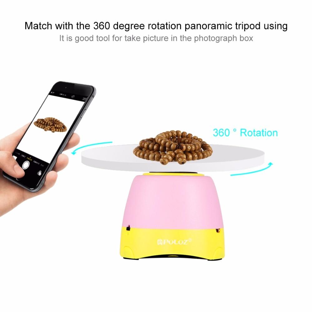 360 Gradi di Rotazione Panoramica Elettronico Testa Treppiedi + Vassoio Rotondo con Controllo A Distanza PULUZ