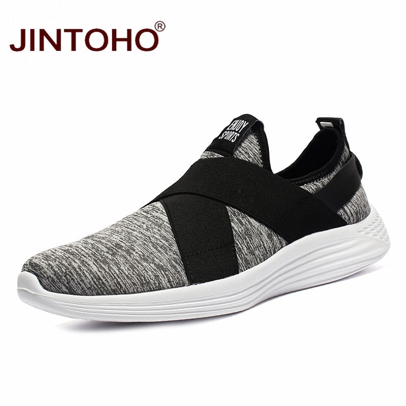JINTOHO Fashion Breathable Shoes Loafers Men slip-On Big-Size Cheap Brand