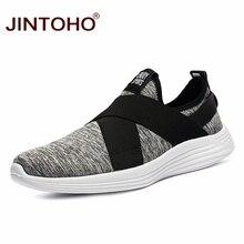 JINTOHO كبيرة الحجم ماركة الرجال حذاء كاجوال موضة تنفس أحذية للرجال رخيصة قارب أحذية الرجال الانزلاق على أحذية خفيفة بدون كعب الرجال Shose