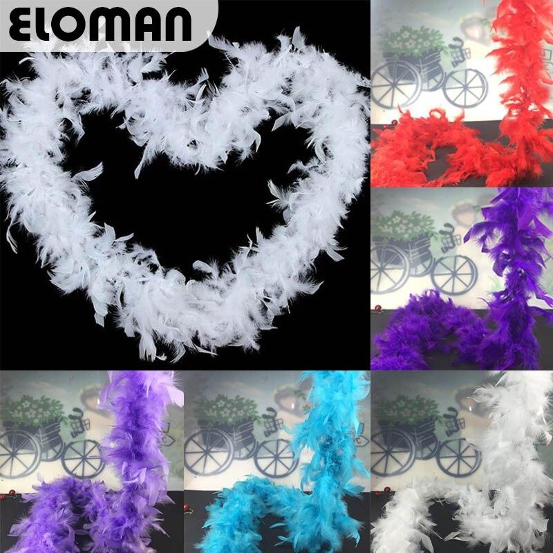 ELOMAN 60g 2yards/Length Turkey Feather Strip wedding ...