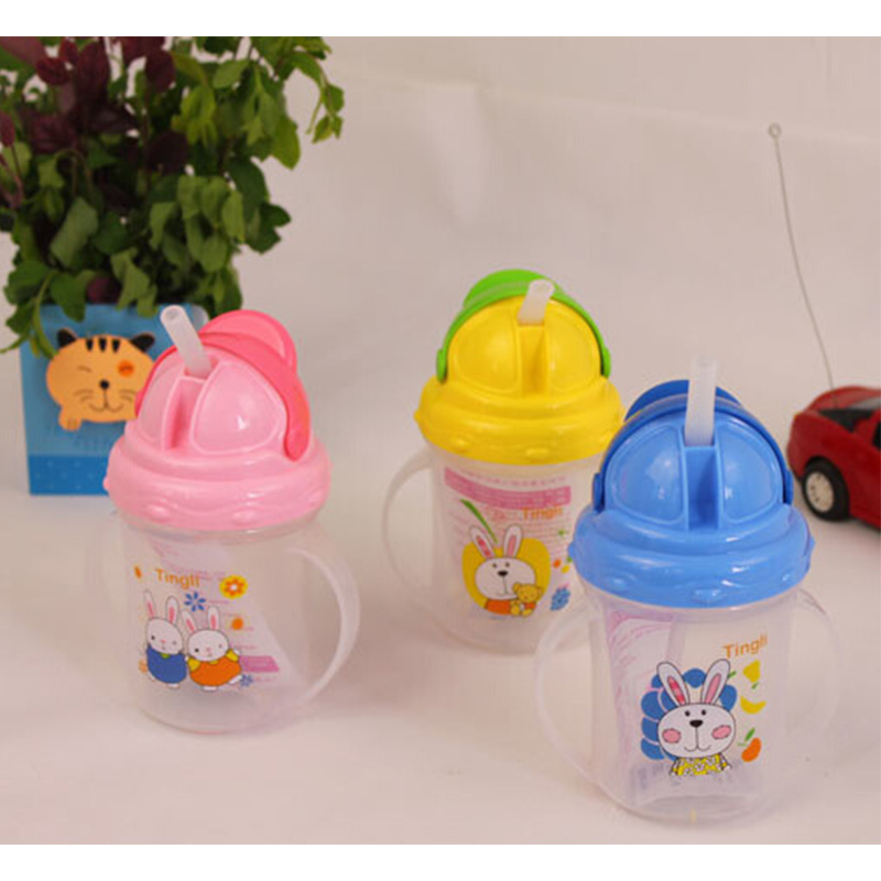 Hot Sell Baby Cups Durable Portable Kids Straw Cup Water Bottle With Handles Newborn Feeding Drinking Cup Kettle For Baby